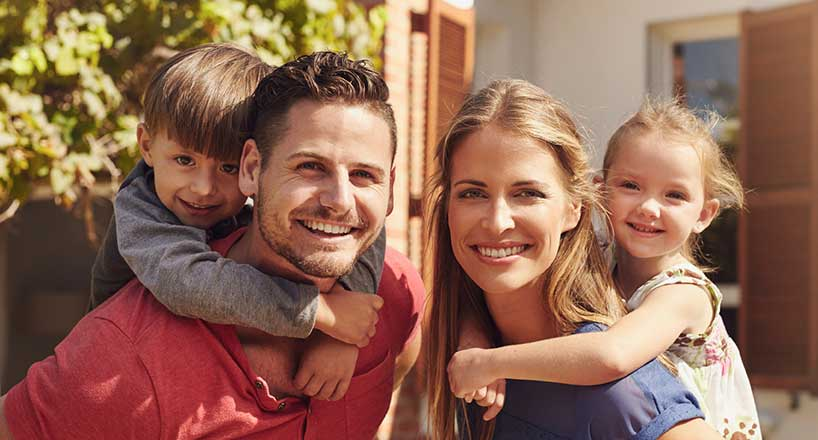 photo of happy family enjoying Home Insurance program