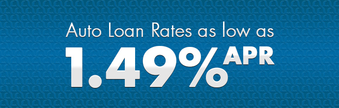 Auto Loan Rates as low as 1.49% APR