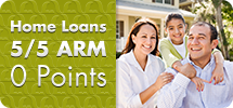 Home Loans: 5/5 ARM, 0 Points