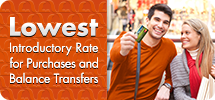 Lowest Introductory Rate for Purchases and Balance Transfers