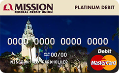 Photo of Mission Fed Checking Account Debit Card.