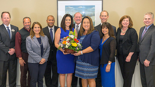 Mission Fed staff with the 2018 Association of California School Administrators Partners in Educational Excellence Award.