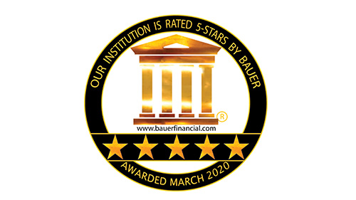 5-Star Superior Rating from BAUERFINANCIAL, Inc. awarded marcho 2020.