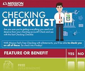 Mission Federal Credit Union Free Checking Account With Estatements