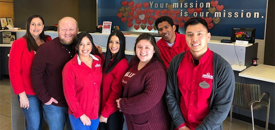 Mission Fed branch team participating in Go Red for Women.