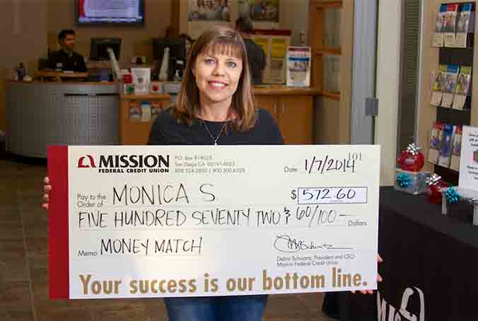 Monica S., one of our December Home Loan Payment match winners.