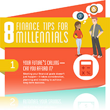 Photo of infographic of 8 Finance Tips for Millennials.