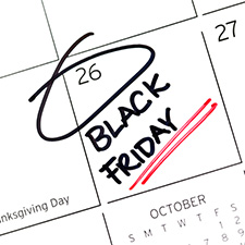 Black Friday marked down on a calendar.