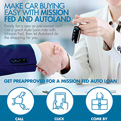Make car buying easy with Mission Fed and Autoland infographic snapshot.