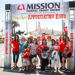 photo of teachers and Mission Fed staff at the San Diego County Fair