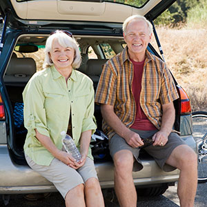 Happy man and wife with Guaranteed Asset Protection (GAP) Advantage.