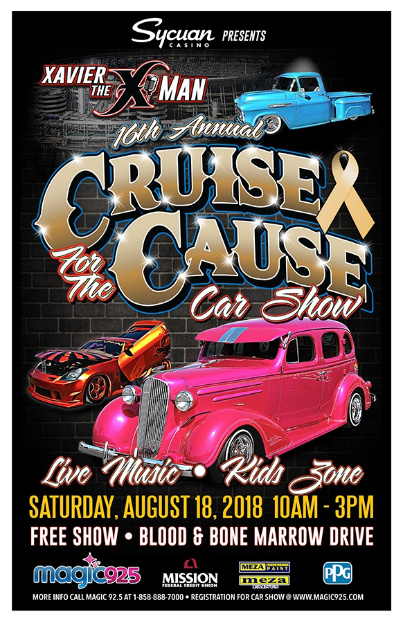 Xavier The XMans Cruise For The Cause Mission - San diego car show 2018