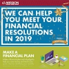 We Can Help You Meet Your Financial Resolutions In 2019 infographic.