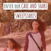 Daughter and mother walking down the street from the Enter Mission Fed's Care and Share Sweepstakes.