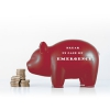 Photo of a piggy bank to be used for emergency funds.