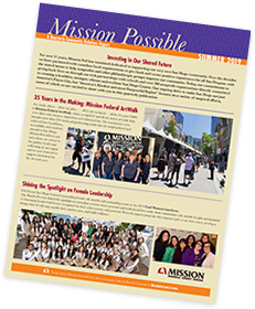 Mission Possible Summer 2019 newsletter.