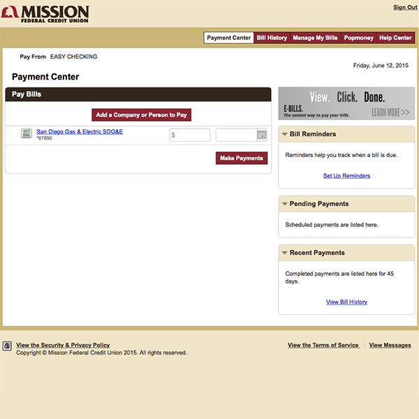 Mission Fed Online Banking, View Your Bank Account Online