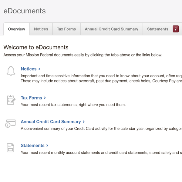 eDocuments screenshot.